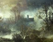Eerie New England Morning Fog