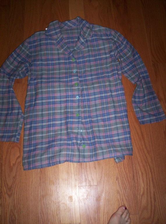 Tank top and long sleeve pajama shirt