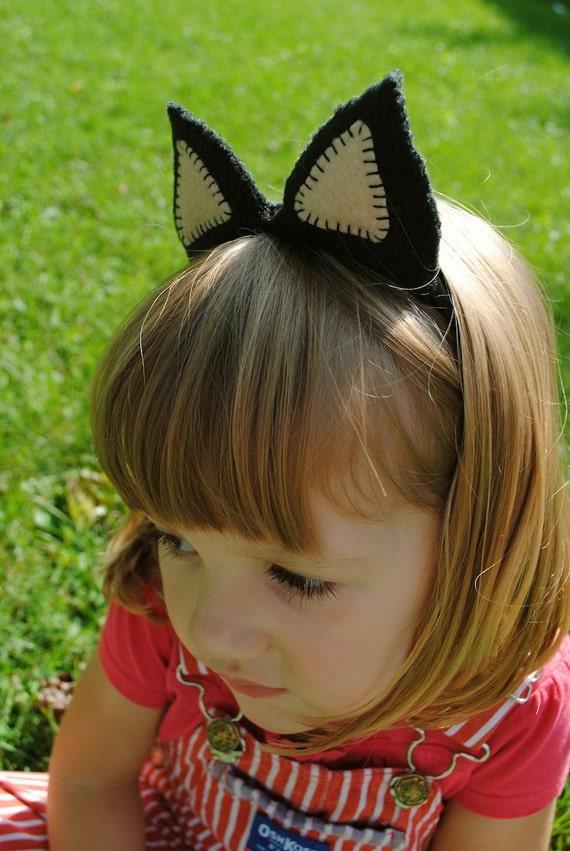 Black & Tan Cat Plush Ears