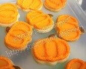Pretty Pumpkin Vanilla Sugar Mini Cookies 4 dozen