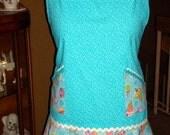 Retro Style Turquoise Apron