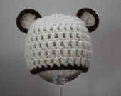 Baby Teddy Bear Hat - Size Newborn