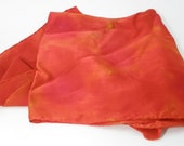 Fire - Hand painted silk scarf