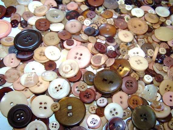 50 Bulk Brown Button Lot New Brown Buttons Tan Buttons Chocolate Buttons Bulk Buttons Button Jewelry Craft Buttons