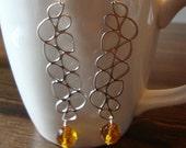Dangly Amber Earrings