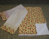 Cherry and Yellow Gingham Dishmat and Towel Set