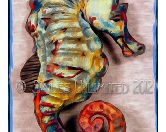 Blank Photo Note Card  -SEAHORSE-  Sea Horse Series 2c