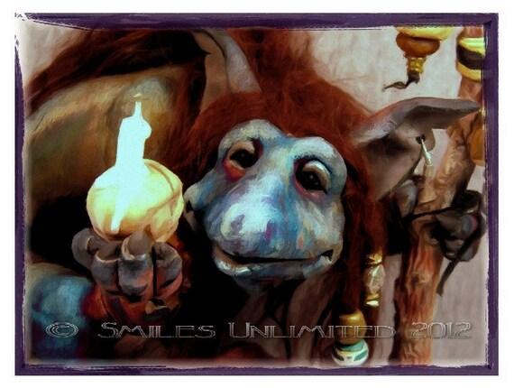 Blank Troll Witch Photo Notecard  -TEYLA-  Fantasy Series 6c