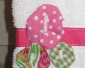 Pink and Green Floral Guest Towel