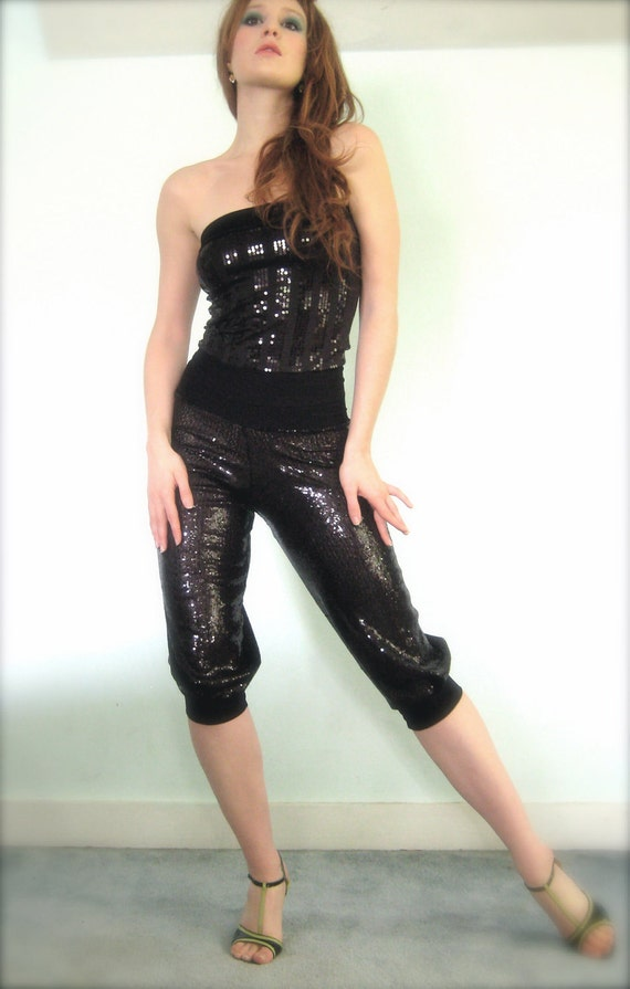 glimmering pitch pants RESERVED
