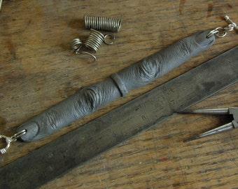 Silver-Blue Silicone Finger Bracelet