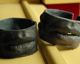 Carina & Grace Textured Goth Cuffs