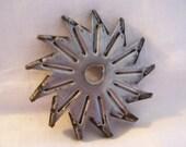Vintage Industrial Metal Salvage - Star-Pinwheel Shape