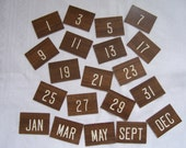 Vintage Wooden Number Squares - 18 in Lot