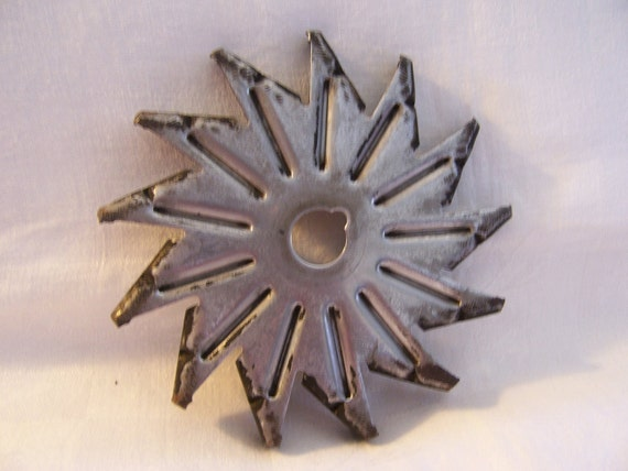 Vintage Industrial Metal Salvage - Star-Pinwheel Shape