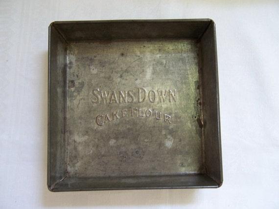 Square Vintage Cake Tin - Swans Down Cake Flour