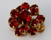 Bright Red Vintage Mini Scatter Pin
