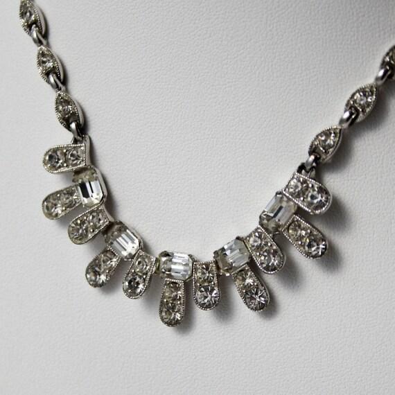 Vintage Rhinestone Necklace - Signed BOGOFF
