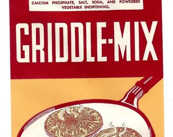 1950's Griddle Mix bag for Buckwheat Compound Pancakes