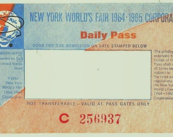 Unused 1964-65 New York World's Fair Ticket