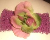 two tone flower headband