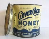 Vintage Honey Tin