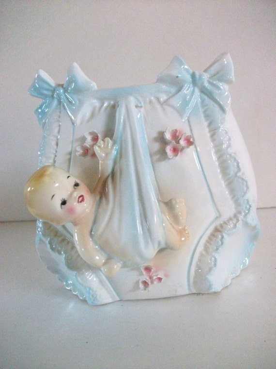 Vintage Ceramic Baby Planter