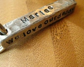 Distressed Keychain - 4 Sided Bar - Stamped By Rawkette