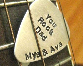 Guitar Pick Keepsake - Custom Lyrics Or Message - By Rawkette