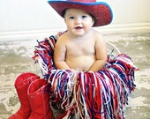 Red,White and Blue USA Photo Prop Infant Fringe Nest,Framed Photography