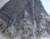 Heather Grey Hand knitted Fashion Scarf