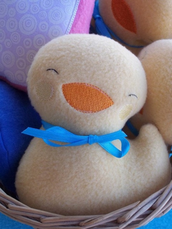 Fleece Stuffed Duck Baby Toy