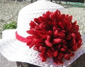 Tea Party Hat - Girls Sun Hat - White