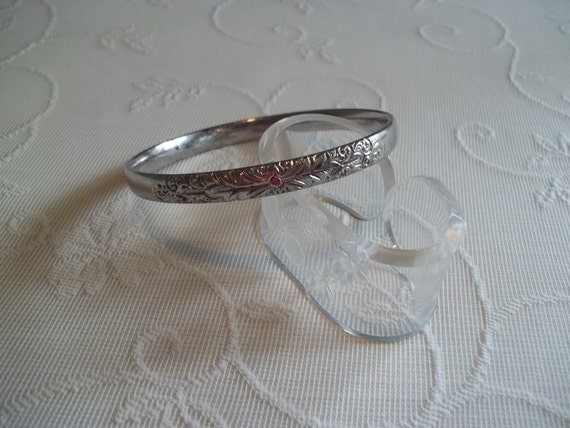 Whiting and Davis Silver Toned Bangle