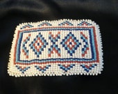 Native Canadian beaded belt buckle FREE shipping