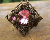 Rose Pink Butterfly Ring