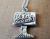 REALTOR FOR SALE/SOLD SIGN - Sterling Silver Charm with a Sterling Silver Chain 16in or 18in