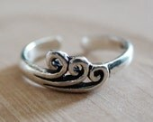 OCEAN WAVE TOE Ring - Sterling Silver Toe Ring