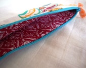 handy long and slim zipper pouch fabric