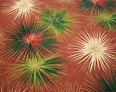 Mid-century Modern Starburst Vintage Barkcloth Fabric - 44 inches by 34 inches