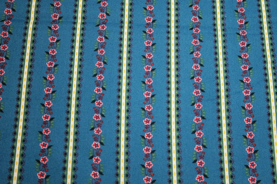2 Yards Lovely French Provence Stripe Fabric by Michael Miller - French Blue - OOP