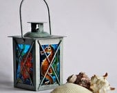 Sea World-Small Decorative Lamp-Tea Light Candle Holder-Hand Painted
