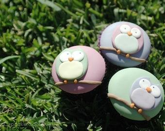 Owl Cupcake PDF Tutorial