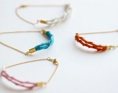 SET of 2 RECUERDOS Bracelet- macrame knot, thread, rope