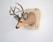vintage stag kitschy cabin