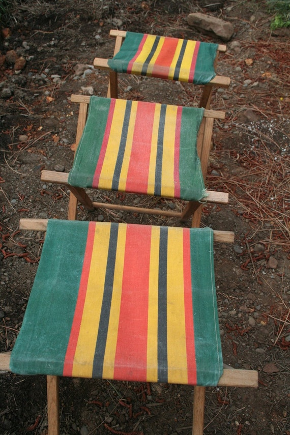 3 Vintage Camp Chairs