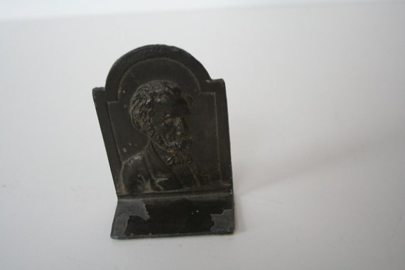 vintage petite Abraham Lincoln bookend