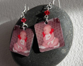 Custom Photo Earrings (Color)--FREE Gift Wrapping Included