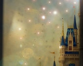 Once Upon a Time- 5 x 7 Metallic Fine Art Photographic Print, Castle Photograph, Dreamy, Magical, Whimsical