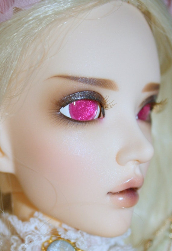 BJD eyes available in 12/14/16/18/20/22/24mm Pink Sherbet made to order (Various colours)